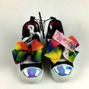Jojo Siwa Pink Siwa Rainbow Bow Denim Shoes